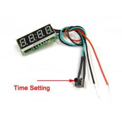 DC 12V 24V Digital Meter/Car Clock 24 Hours Display Led Digital Clock/Panel Meter/Time Meter DIY Time Monitor/Tester
