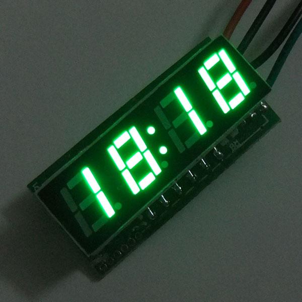 Car Clock 24 Hours Display Led Digital Clock/Panel Meter DC 12V 24V Digital Meter/Time Meter DIY Time Monitor/Tester