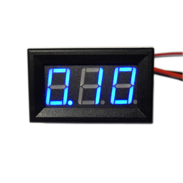 Digital Current Meter DC 0 ~ 5A Ammeter Red/Blue/Green Led Display Digital Medter/Panel Meter DC 12V 24V Ampere Meter/Monitor/Tester