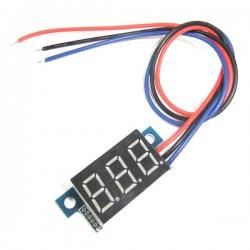 Digital Voltmeter DC 0.00V~30.0V Voltage Meter Red/Yellow/Blue/Green Led display Digital Meter/Panel Meter DC 12V 24V Volt Meter/Monitor/Tester