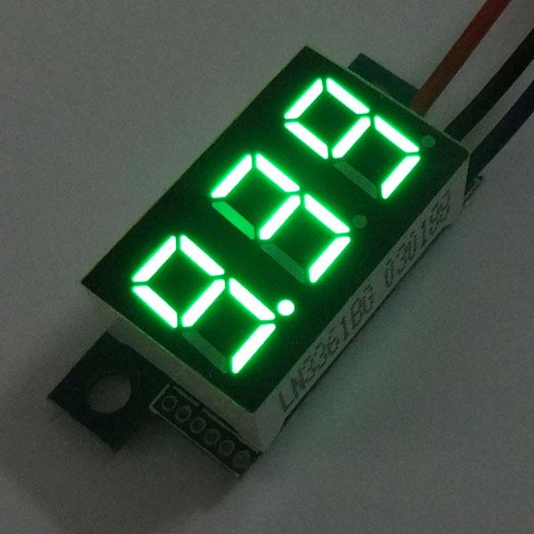 Digital Meter/Voltage Meter DC 0.00V~30.0V Voltmeter Red/Blue/Yellow/Green Led display Panel Meter DC 12V 24V Volt Meter/Monitor/Tester