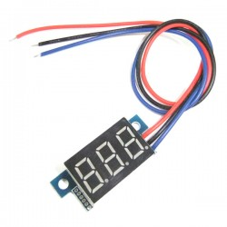 Digital Meter/Voltage Meter DC 0.00V~30.0V Voltmeter Red/Blue/Yellow/Green Led display Panel Meter DC 12V 24V Volt Meter/Monitor/Tester