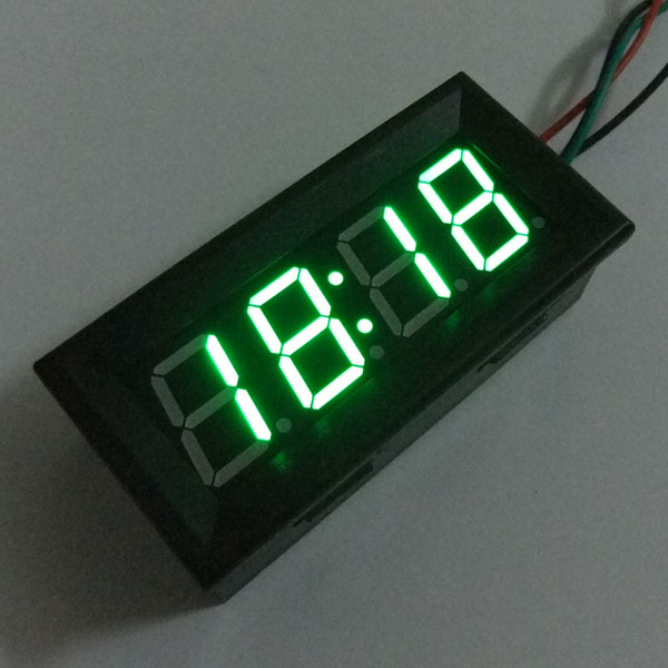 Digital Meter/Panel Meter Adjustable Clock 24-hour Digital Clock Red/Yellow/Blue/Green Led display Car Clock DC 12V 24V DIY Time Monitor/Tester