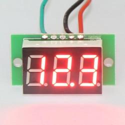 Digital Voltmeter DC 0~100V Voltage Meter Red/Blue/Green/Yellow Led display Panel Meter DC 12V 24V Digital Meter/Monitor/Tester