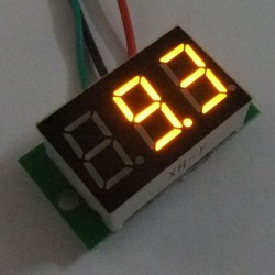 Digital Tester DC 0~100V Red/Blue/Yellow/Green Led display Voltmeter/Panel Meter DC 12V 24V Digital Meter/Monitor/Tester