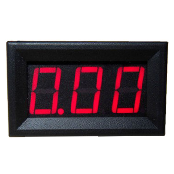 Digital Amperemeter DC 0-10A Ammeter Red/Blue/Green LED Display Panel Meter DC 4-30V Power