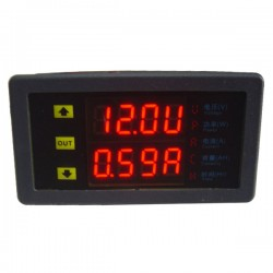 Multimeters Voltmeter Ammeter Dual LED Display Voltage Current DC 10-90V 0-20A