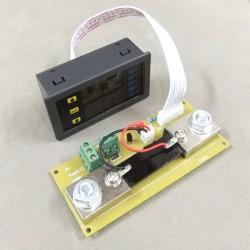 Digital Voltmeter Ammeter DC 10-90V 0-100A Dual LED Display High Power Panel lMeter