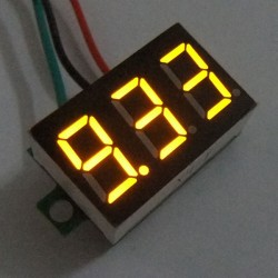 Digital Tester DC 0~10V Volt Meter Red/Blue/Yellow/Green Led display Voltmeter/Monitor Meter DC 12V 24V Digital Meter/Voltage Meter