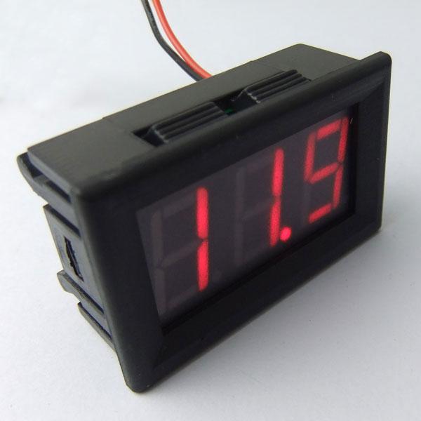 Digital Voltmeter DC 7~150V Voltage Meter Red/Blue/Green Led display Digital Meter/Panel Meter DC 12V 24V Volt Meter/Monitor/Tester