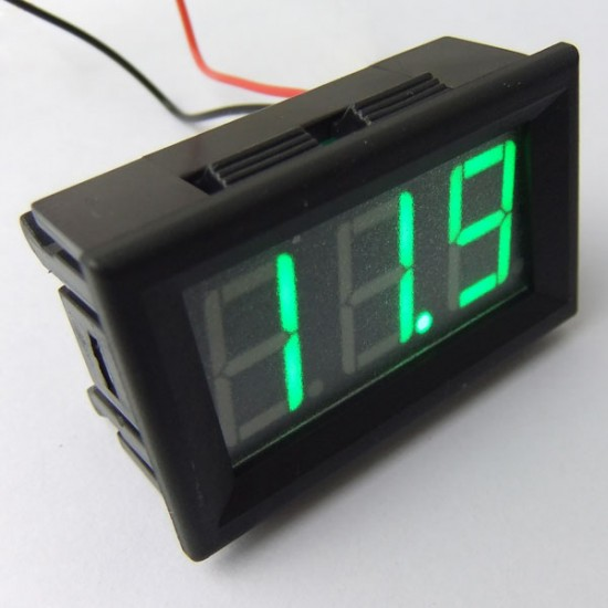DC Voltage Meter DC 12V 24V Digital Meter DC 7~150V Voltmeter/Panel Meter Red/Blue/Green Led display Volt Meter/Monitor/Tester