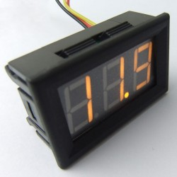Digital Meter DC 3.5~30V/0~200V Voltmeter White/Red/Green/Blue/Yellow Led display Panel Meter 2in1  DC 12V 24V Voltage Meter/Monitor/Tester