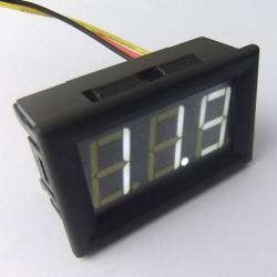 Digital Voltage Meter/Panel Meter DC 3.5~30V/0~200V Voltmeter White/Red/Green/Blue/Yellow Led display Digital Meter DC 12V 24V Volt Meter/Monitor/Tester 2in1