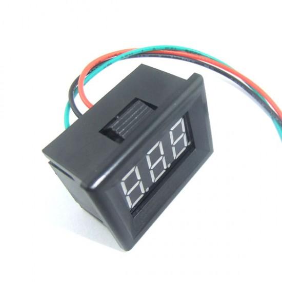 Digital Voltmeter DC 0~30V Voltage Meter Blue/Red/Green/Yellow Led display Digital Meter/Panel Meter/Monitor DC 12V 24V Tester with Low Pressure Alarm