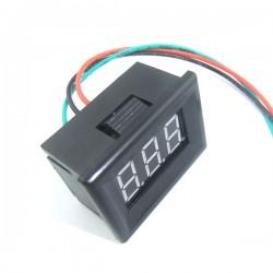 Digital Voltage Meter DC 0~30V Voltmeter Red/Blue/Yellow/Green Led display Digital Meter/Monitor  DC 12V 24V Panel Meter/Tester with Low Pressure Alarm