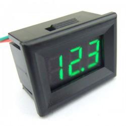 DC 0~30V Digital Voltmeter Red/Blue/Yellow/Green Led display Voltage Meter/Panel Meter/Monitor DC 12V 24V Digital Meter/Tester with Low Pressure Alarm