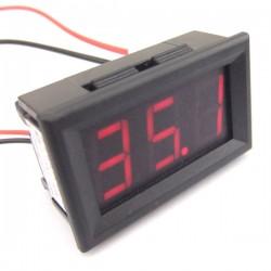DROK Waterproof Digital Clock Alarm Meter DC 4.5-30V 24-hour Car Clock 0.4 Green LED Display 200198