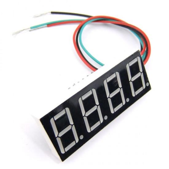 Digital Volt Gauge DC Volts Measure Meter DC 0V-200V Red/Blue/Yellow/Green LED Digital Voltmeter Three wire Voltage Monitor Meter