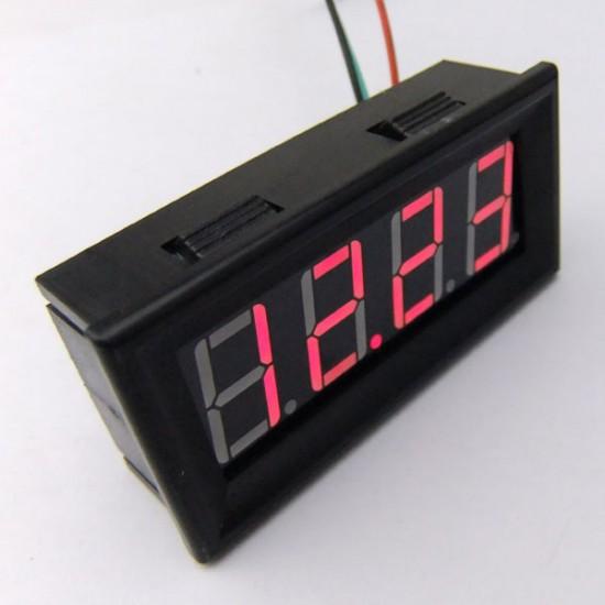 0.56' Mini DC 12V 24V Car Motors Voltage Digital Voltmeter 0-200V Red/Blue/Yellow/Green LED Voltage Measured Meter