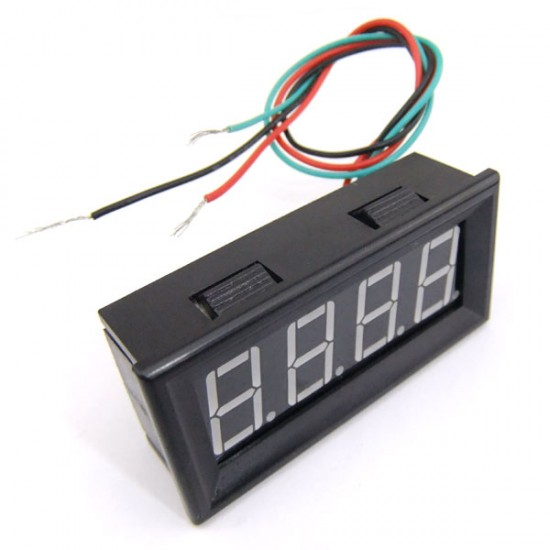 DC 0-200V Red/Blue/Yellow/Green LED Voltage Monitor Meter .56' DC 12V 24V Car Motors Voltage Digital Voltmeter