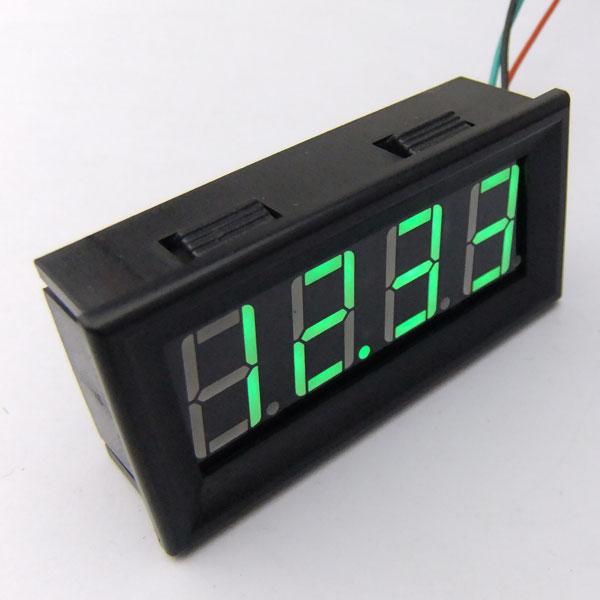 DC 12V 24V Car Motors Voltage Digital Voltmeter 0-200V Red/Blue/Yellow/Green LED Power Measured Meter