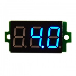 Digital Voltmeter, DC  LED Voltage Monitor Meter 0-200V Panel Module with Mounting Ear