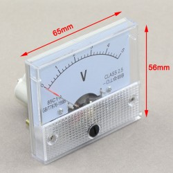 0~5V DC Analog Panel Volt Meter 85c1 Voltmeter Class-2.5 Voltage Measure