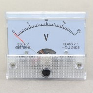 DC 0-20V Voltage Detector 85c1 Analog Voltmeter Gauge Class-2.5 Volt Panel Meter