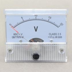 DC 0-20V Voltage Detector 85c1 Analog Voltmeter Gauge Class-2.5 Volt Panel Meter