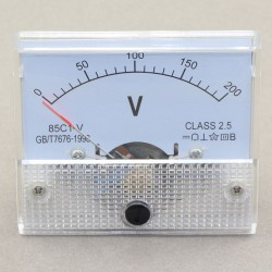 Pointer 85c1-V 0~200V DC 12V 24V Analog Voltage Meter Panel Volt Meter Class 2.5