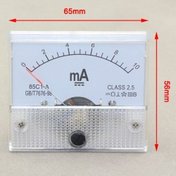 0-10mA DC Analog Panel AMP Meter 85C1-mA Amperemeter Class-2.5 Current Measure
