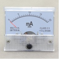 85c1 Analog Current Gauge Class-2.5 Amp Meter DC 0-20MA Current Measurment