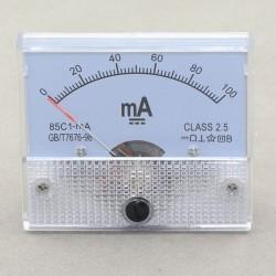85C1-mA DC Amperemeter Gauge 0-100MA Analog AMP Meter Current Detector Class 2.5