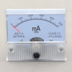 85c1 DC Amperemeter Analog AMP Panel Meter 500MA Class-2.5 Current Meter