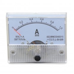 85C1 DC Amperemeter AMP Gauge 0-1A Analog Current Panel Meter Accuracy Class-2.5