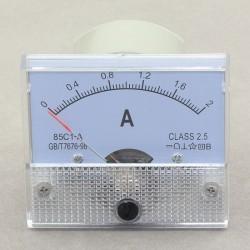 85C1-A Class-2.5 DC Ammeter Gauge AMP Panel Meter 0-2A Analog Amperemeter