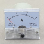 85C1-A Class-2.5 Analog DC 0-3A Current Tester Ammeter AMP Panel Meter