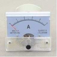 85C1-A Class 2.5 0~5A DC Analog Current Detector Gauge Mechanical Ampere Meter
