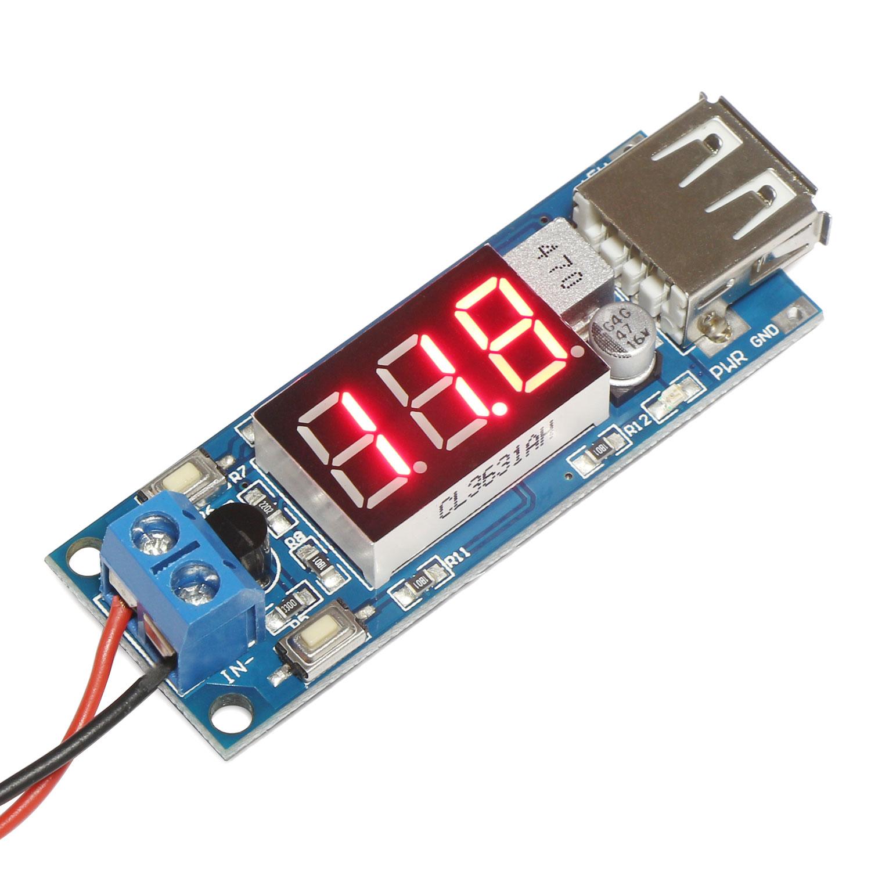 Dc To Dc Buck Converter Regulator 4 5 2a Step Down Usb Charger Voltmeter