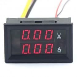 Digital  Meter DC 0~100V/5A Digital Voltmeter Ammeter 2in1 Voltage Ampere Meter DC 12V 24V Tester/Panel Meter Built-in Shunt