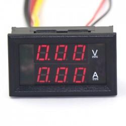 Digital Voltmeter Ammeter DC 0 ~100V/10A Voltage Current Meter 2in1 Digital Tester/Panel Meter DC 12V 24V Volt Ampere Meter