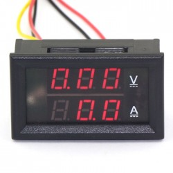Digital Tester DC 4.5 ~ 30V/50A Voltmeter Ammeter 2in1 Volt Ampere Meter DC 12V 24V Voltage Current Meter/Panel Meter
