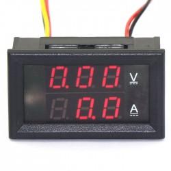 2in1 Digital Meter DC 0 ~ 100V/100A Voltmeter Ammeter Red Led Display Digital Tester/Panel Meter DC 12V 24V Voltage Current Meter