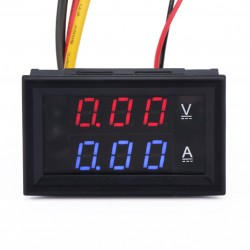 Digital Tester 2in1 Ampere meter/Voltage Meter DC 0~100V/2A Digital Voltmeter Ammeter DC 12V 24V Monitor Meter/Panel Meter
