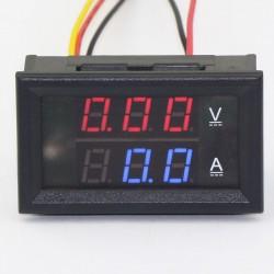 2in1 Ammeter Voltmeter DC 0~100V/50A Voltage Current Meter Dual Display Panel Meter DC 12V 24V Volt Ampere Meter/Digital Tester