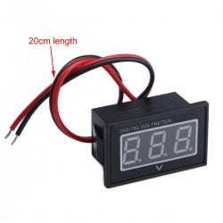 Waterproof Digital Volt Meter DC 2.5-30V Red LED 12V/24V Battery