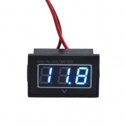 Mini Waterproof Digital Voltage Gauge Car Battery Voltmeter 2.5-30V DC Blue LED