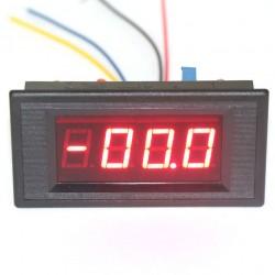 0 ~200uA DC Micro Amp Current Meter Digital Ampere Tester Red Led Display Panel Meter DC 5V Digital Ammeter