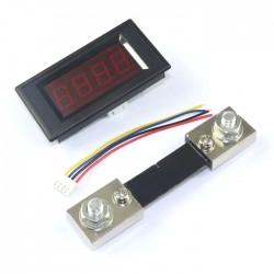 100A Digital Ammeter Current Panel Meter with Shunt DC Amp Gauge Red LED Tester