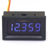 """0.36"""" 5 Digits 0-33.000V Voltmeter Gauge Digital Auto Battery Monitor Red/Blue/Green LED Voltage Meter"""